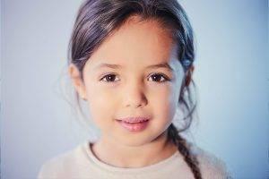 brown eyed little girl